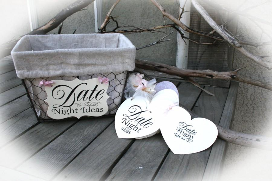 Mariage - Sign AND Date Night Tag Book- Bridal Shower - Bridal Shower Game