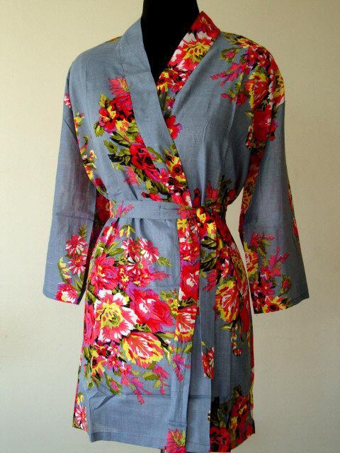 Hochzeit - DD6 Bridesmaid gift Robe - Kimono robe, Bridal party gift,  Bath Robe, Getting ready robe