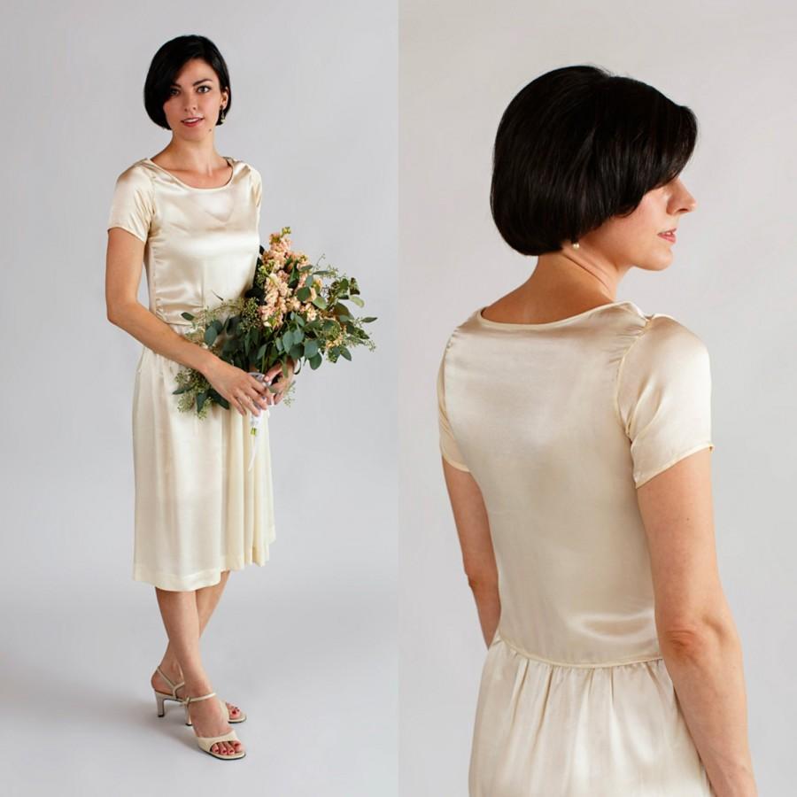 Mariage - 1920s Silk Wedding Dress / Vintage Art Deco Wedding Dress