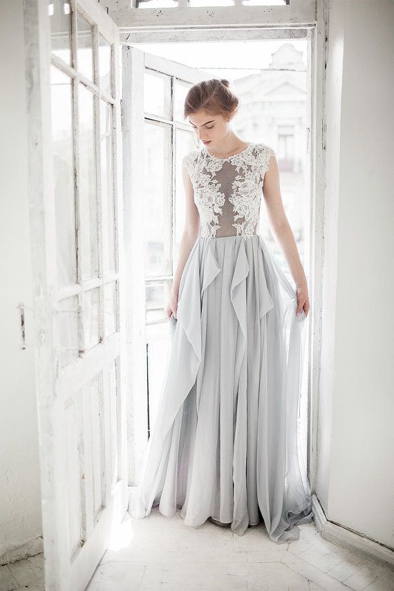 Dress - Grey Wedding Dress // Iris #2486377 - Weddbook