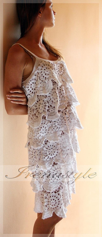Свадьба - CROCHET FASHION TRENDS Crochet Dress Custom Made, Hand Made, Crochet , Women Fashion