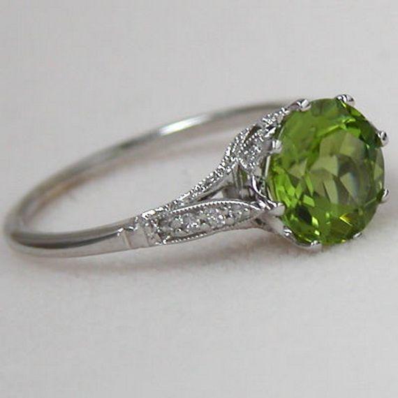 Wedding - Peridot Rings For Women