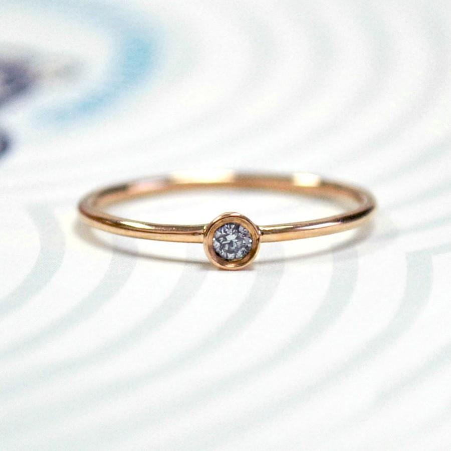 Tiny Diamond Ring Set