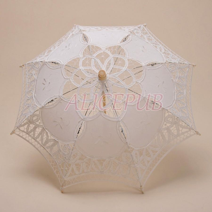 ivory kid umbrella lace child umbrella parasol handmade wedding flower girl vintage lace parasol bridal shower umbrella hts13b3