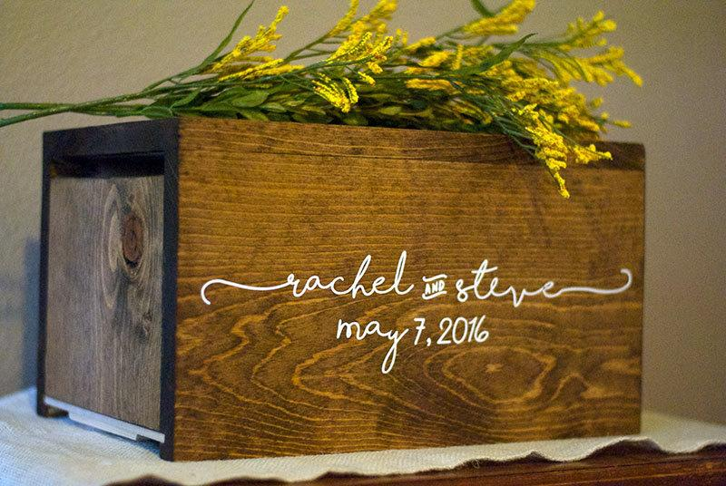 Wedding Card Box Personalized Wedding Card Box Money Box Rustic – How to Decorate a Wedding Card Box