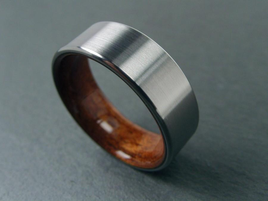 wedding fit new rosewood dp w band comfort rings hard exotic wood