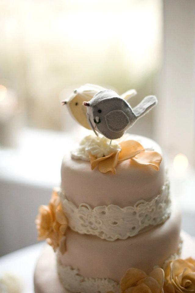Design Your Own Wedding Cake | Custom Handmade Love Birds Wedding Cake Topper Design Your Own