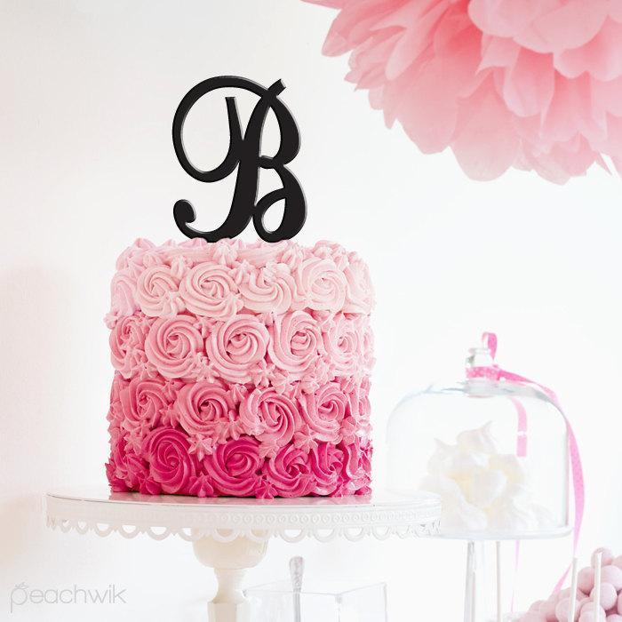 letter cake topper initials cake topper wedding cake topper peachwik abcdefghijklmnopqrstuvwxyz pt45