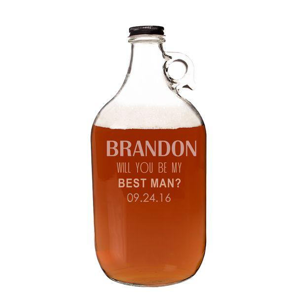 Mariage - Personalized Will You Be My Groomsman Growler