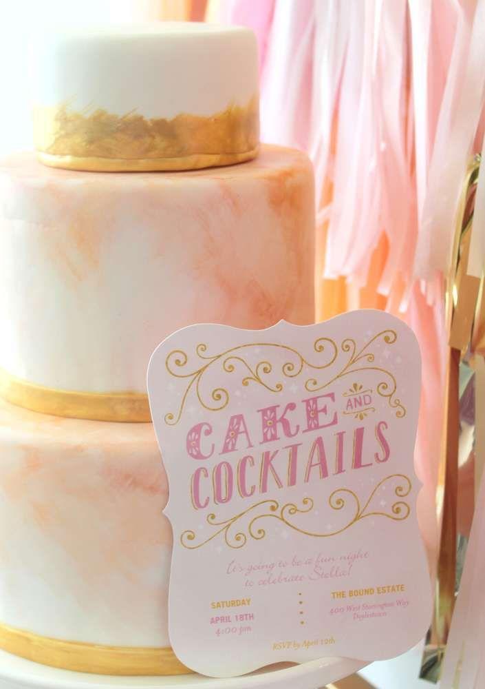 cakes cocktails bridalwedding shower party ideas