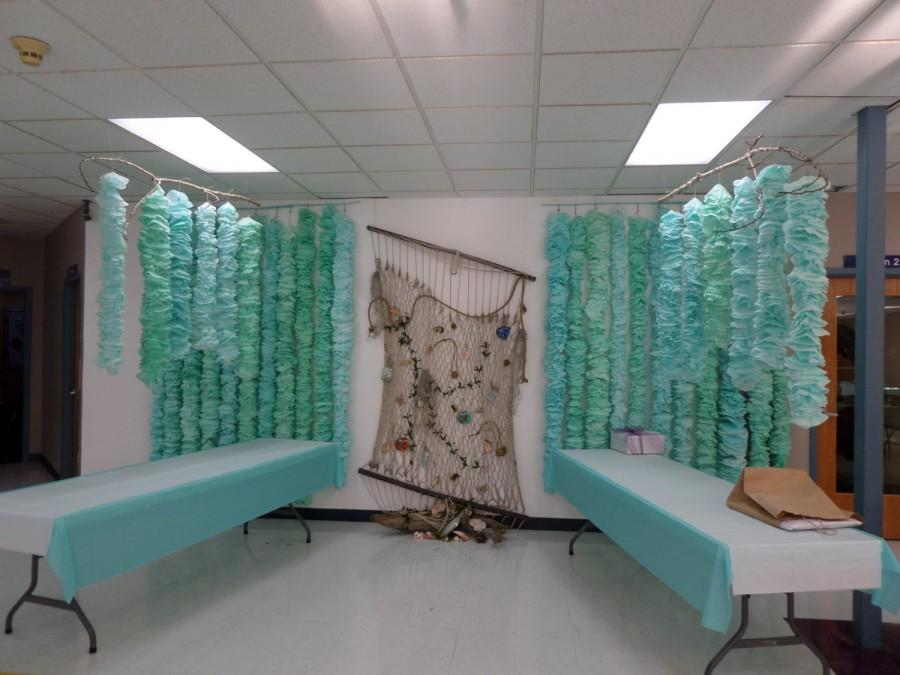 Mermaid Party Decorations Hand Dyed Coffee Filter Garland Kelp Seaweed Beach Wedding Photo Background Hanging Shower Under The Sea