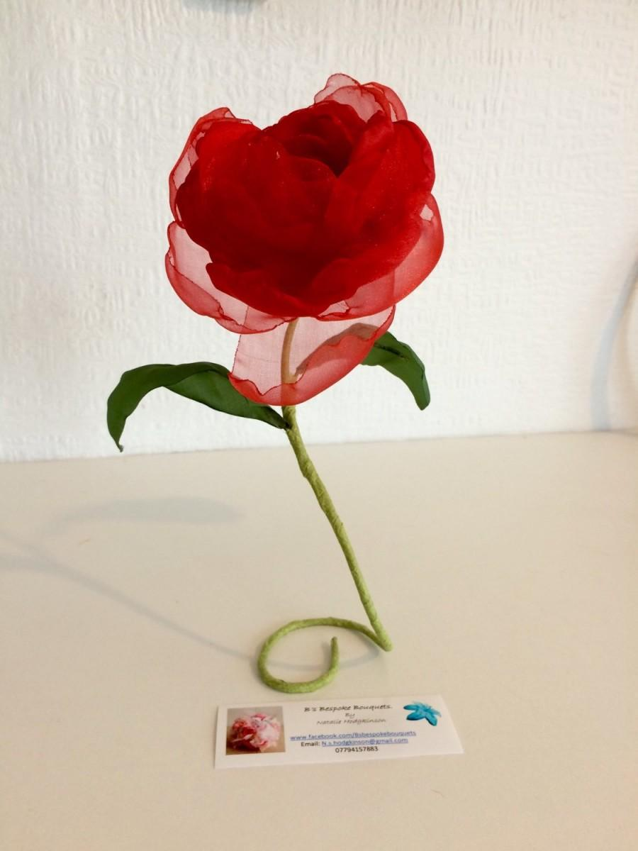 Beauty And The Beast - Red Rose - Twinkly Fabric Rose - Gifts For ...
