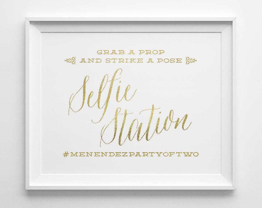 Wedding Signs Selfie Station Photo Booth Sign Hashtag Grab A Prop And Strike Pose Photobooth Reception Ws1g