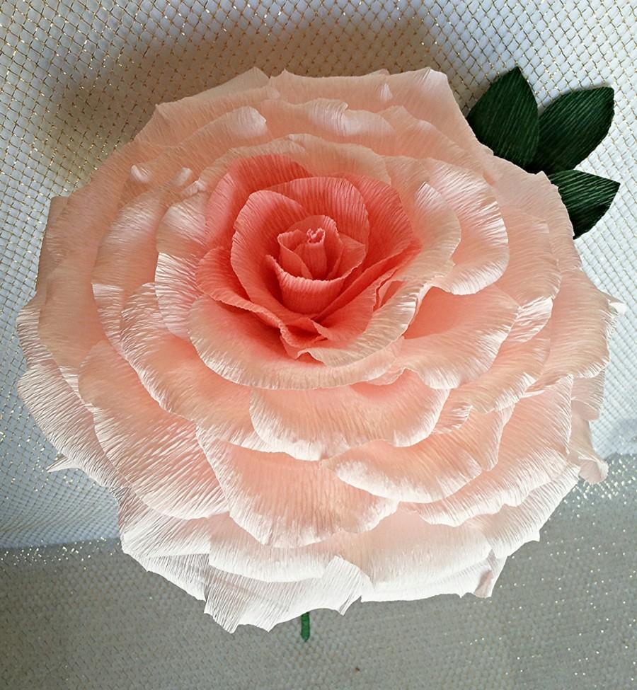 Giant Paper Flower Pink Paper Rose Large Paper Flower Bridal