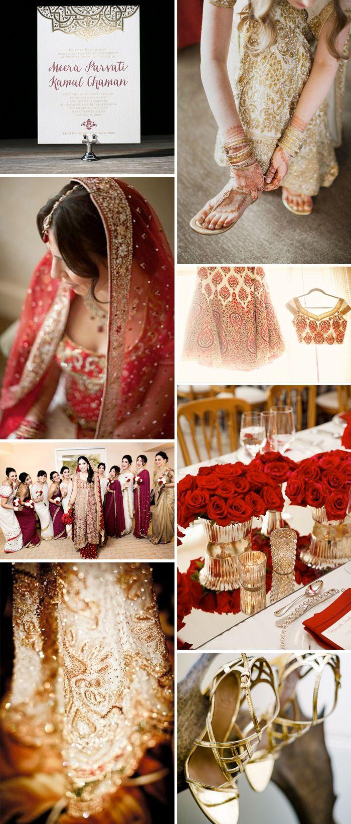 Traditional East Indian Wedding Inspiration Invitation Ideas ...