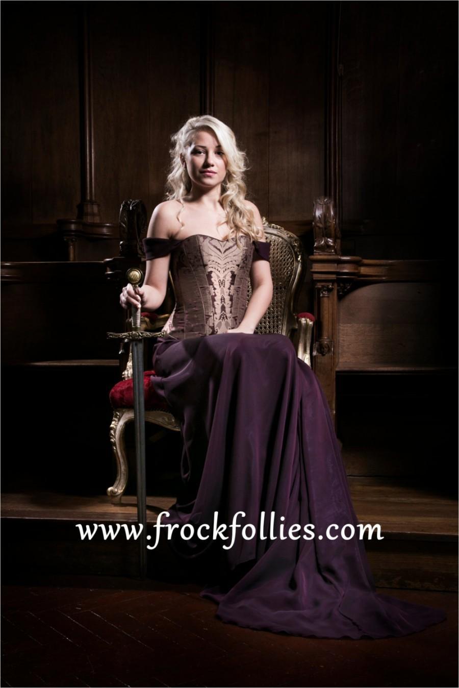 Constance, A Medieval, Elvish, Renaissance Inspired Corseted Wedding ...