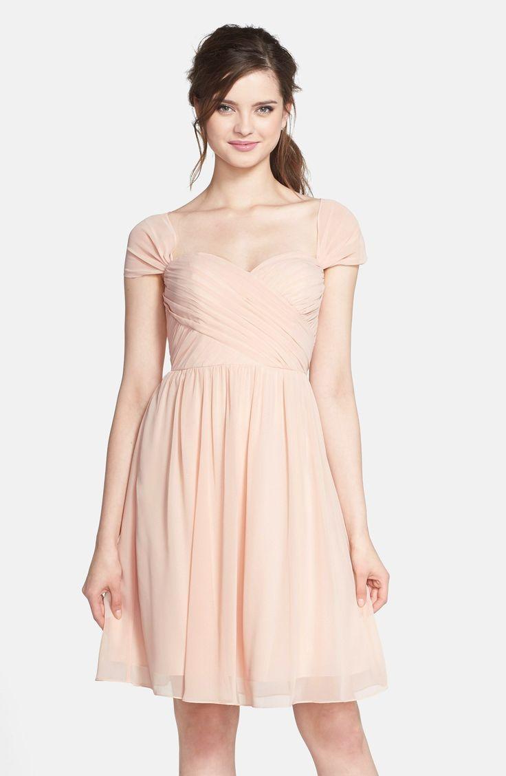 Hochzeit - Women's Jenny Yoo 'Riley' Convertible Chiffon Dress