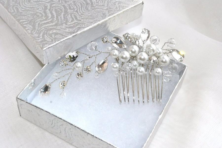 Mariage - Wedding Hair Comb Bridal Hair Comb Wedding Haircomb Bridal Headpiece