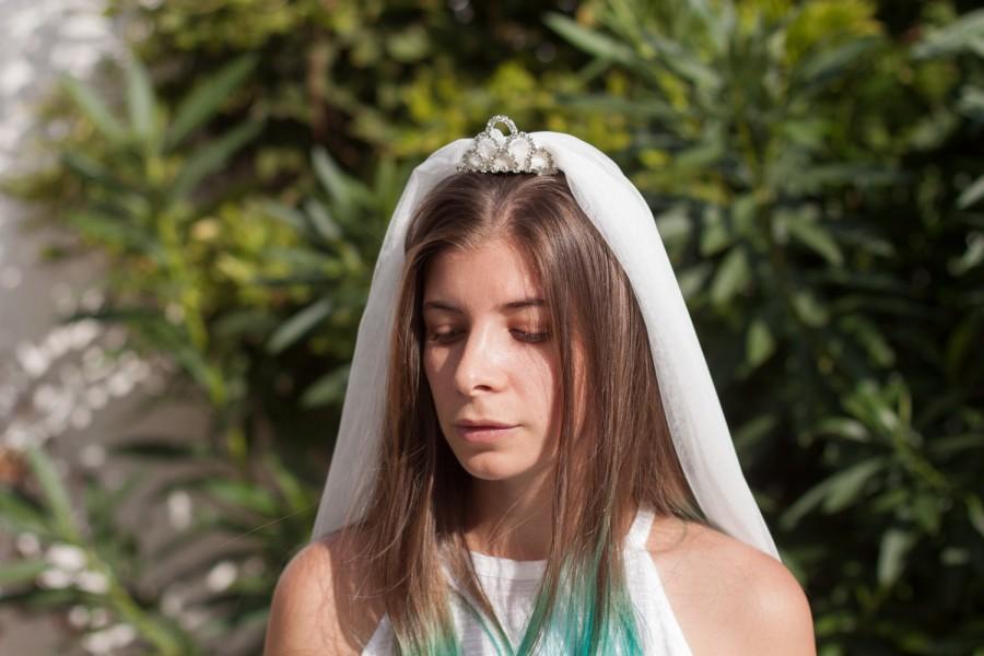 زفاف - Bachelorette Veil Party, Bachelorette Tiara, Bridal Shower, Bride To Be Veil, Bride Gift, Bachelorette Party, 1 tier Party Veil