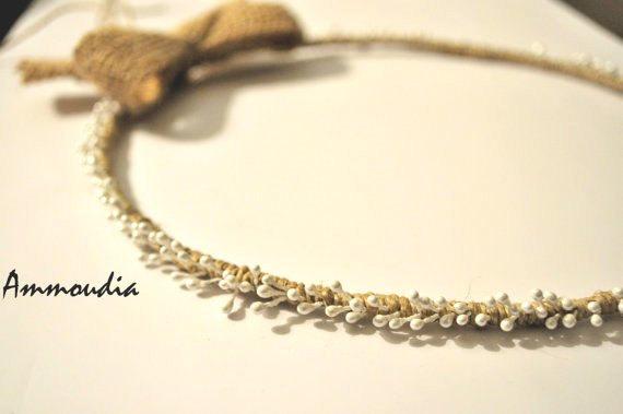 Mariage - Rustic wedding wreaths - beach wedding wreath- wedding crown - orthodox stefana - bridal accessories -  set  of two