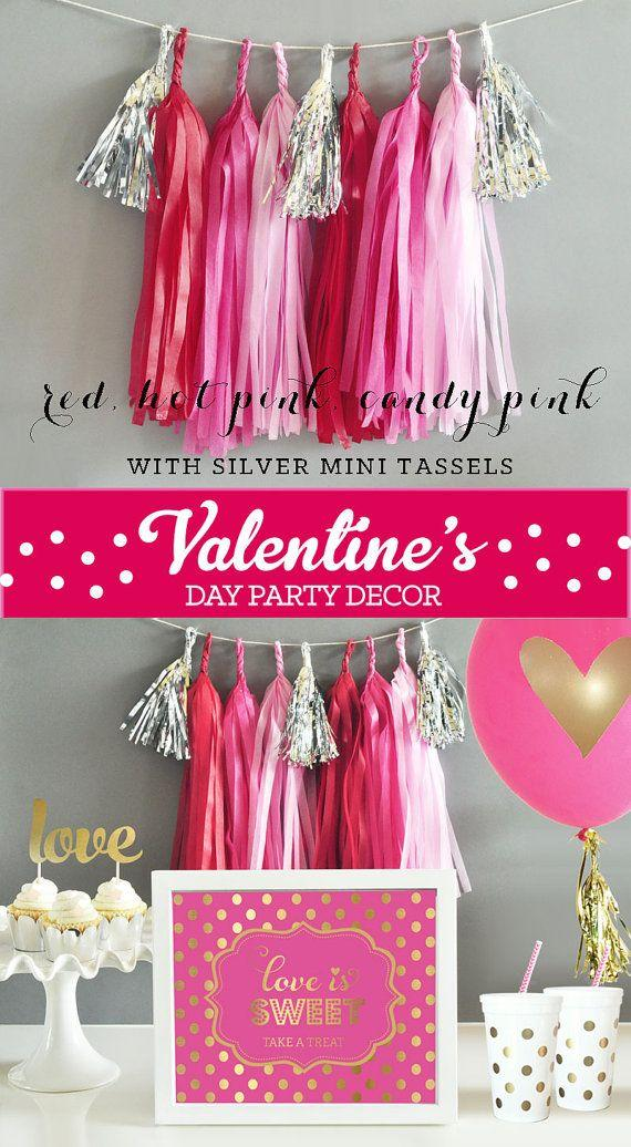 Wedding - Valentines Day Party Supplies - Valentines Day Party Decorations Banner Valentines Day Decorations Backdrop DIY Tassel Garland KIT (EB3086)