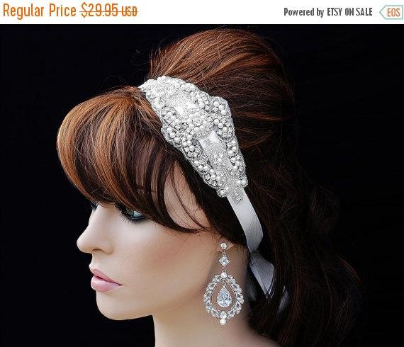 زفاف - SALE - Wedding Headpiece , Bridesmade Headband , Crystal Rhinestone Headpiece, Wedding Headband , Bridal Headband