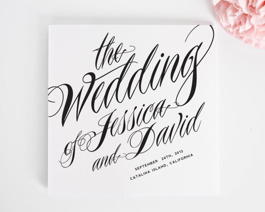 Mariage - Ravishing Script Ceremony Programs, Purchase this Deposit to Get Started