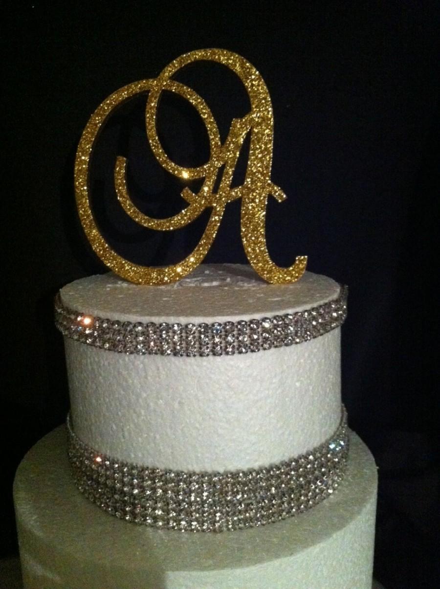 Hochzeit - Glitter Cake Topper. Monogram Cake Topper. Cake Topper. Wedding Topper. Birthday Cake Topper. Cupcake Topper. Glitter. Glitter Cake.