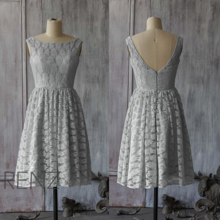 69f93551a3fe 2015 Lace Grey Bridesmaid Dress