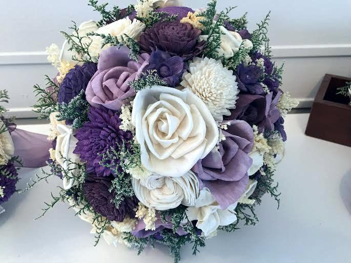 Purple, Eggplant And Lavender Wedding Bouquet - Sola Flowers ...