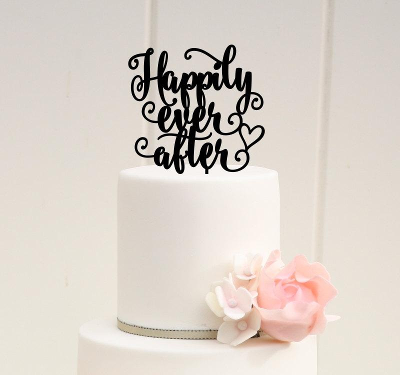 Wedding - Happily Ever After Wedding Cake Topper