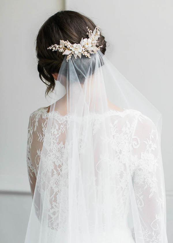 Mariage - JASMINE Floral Wedding Hair Comb