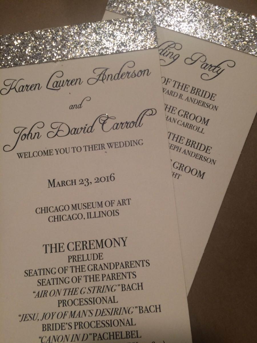 Invitation Glitter Wedding Programs Printed 2487432 Weddbook