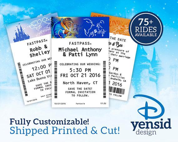 Hochzeit - Fast Pass Wedding Save the Dates (CUT AND PRINTED! –Available as Magnets!)