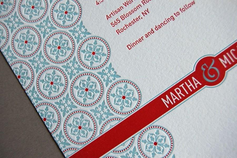 Mariage - Tea Party - Letterpress Invitation Samples