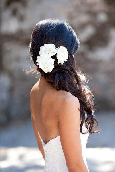 Hochzeit - Hairpins white roses. white peony, bridal hair pin set, bridal flower hair, bridal flower pin, wedding hair pins, bridal hair flower, ivory