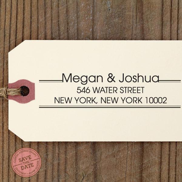 "Mariage - Custom Eco Friendly Self Inking Stamp Wedding, House Warming Gift, Return Address, Holiday Gifts ""Name37"""