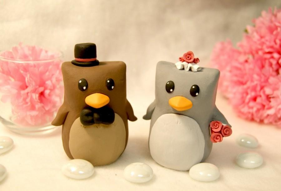 Mariage - Owl Wedding Cake Toppers