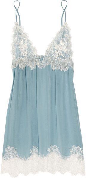 Свадьба - Jenny Packham Blue Chantilly Lace And Silkchiffon Chemise