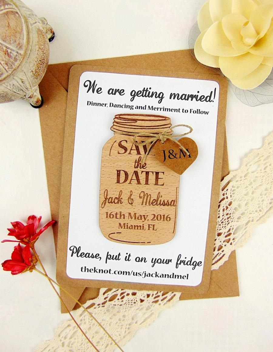 Custom Save The Date Magnet Set Wood Save The Date Wedding Save