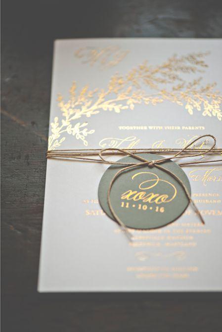 Hochzeit - Smitten With Gold - Smitten On Paper