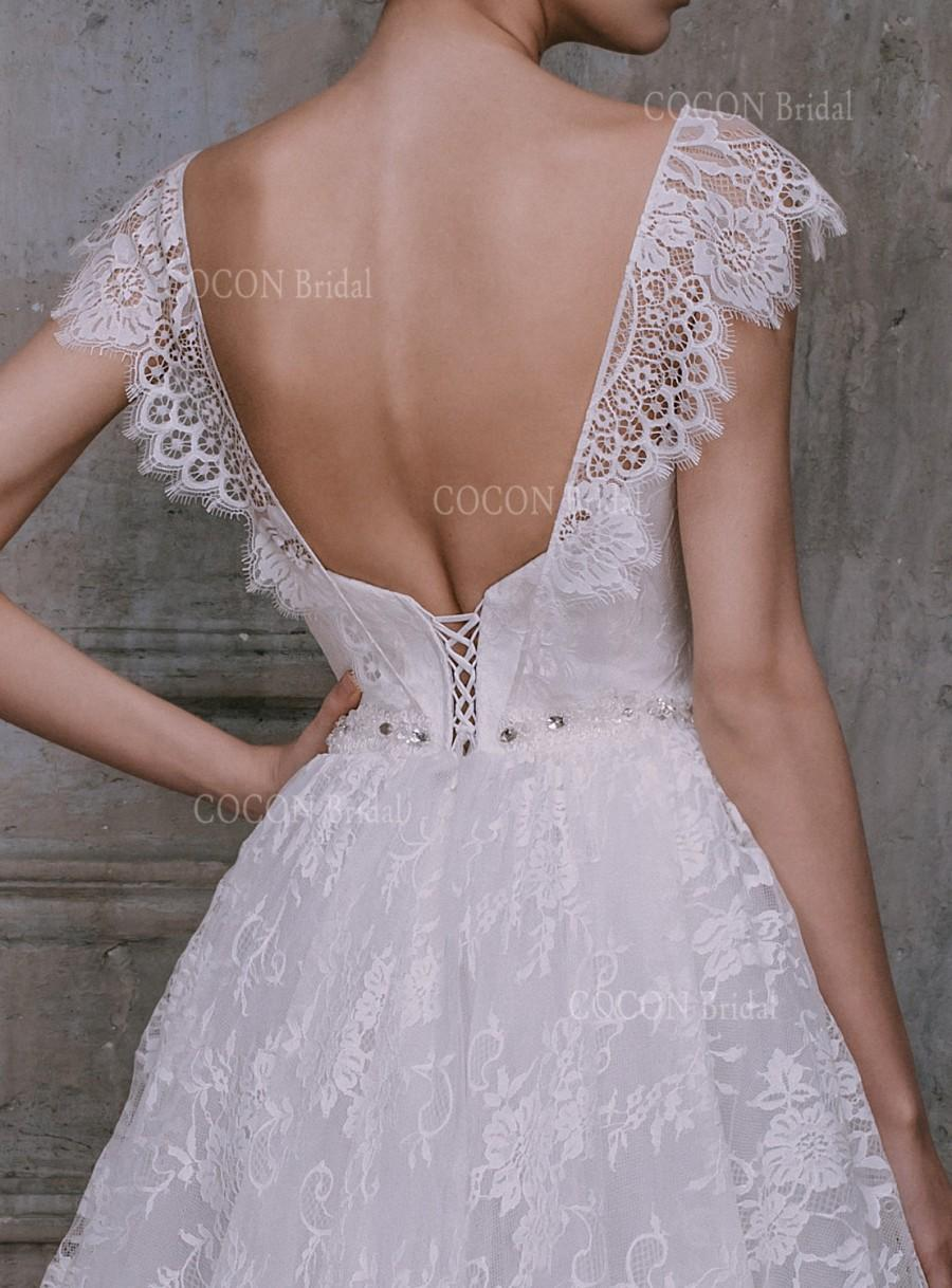Vintage Wedding Gown From Tulle With Chantily Lace And Encrusted ...