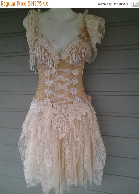 """Mariage - 20% OFF pixie inspired golden sand hued bustier top..,,small to 38"""" bust..."""