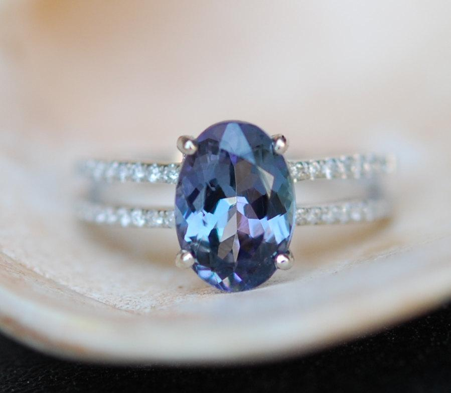 tdiawt tgw diamond itm gold cts white cttw tanzanite wg size peacock ring