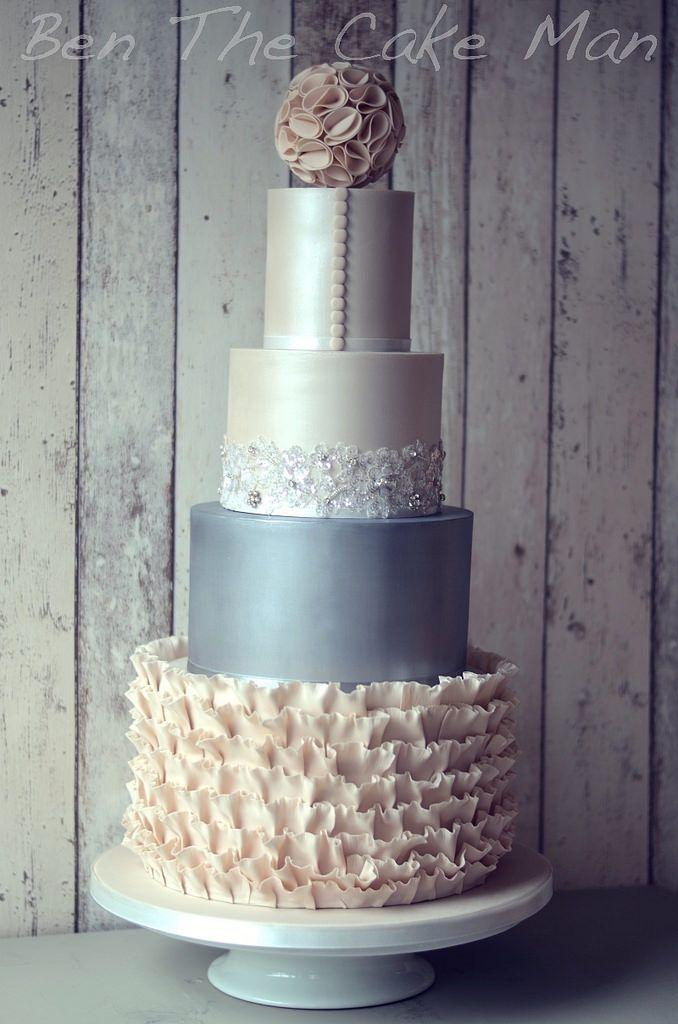 Hochzeit - Lustre Finish Wedding Cake
