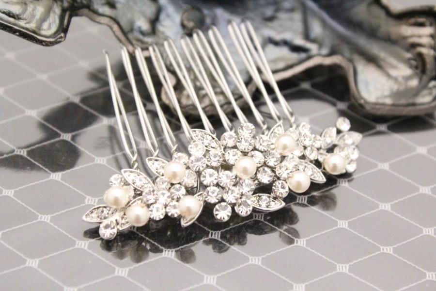 Mariage - Bridal hair comb pearl Wedding hair piece Bridal hair jewelry Wedding hair accessories Bridal hair piece bridesmaid hair comb Wedding comb
