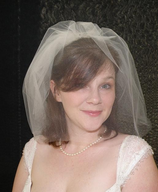 Mariage - Wedding veil - Tiny Double Blusher Veil