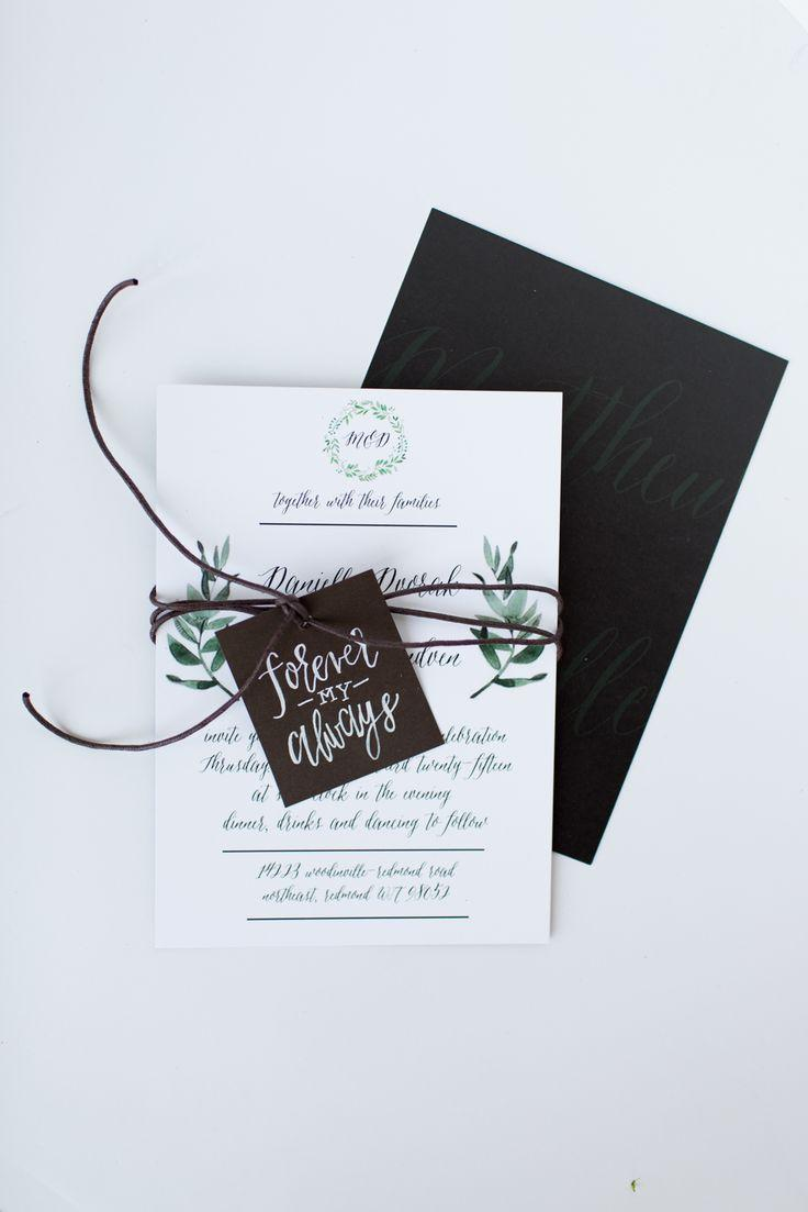 Mariage - Danielle And Matt's Wedding Invitation Suite
