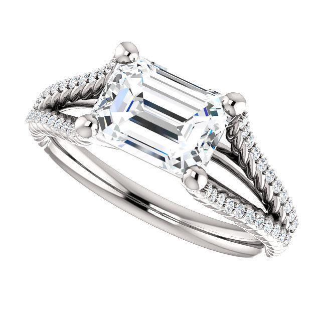 Wedding - Moissanite Engagement Ring