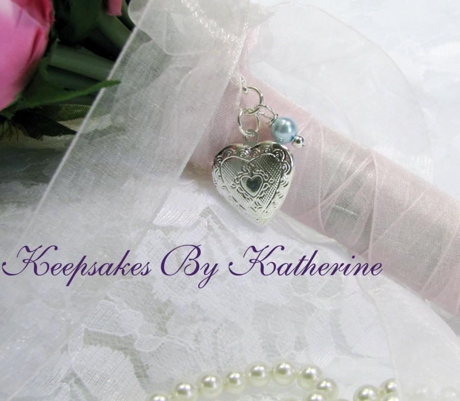 Свадьба - Bridal Bouquet Locket,  Heart Locket, Wedding Keepsakes, Brides Gift, Bouquet Charm